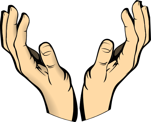 clipart hand outstretched