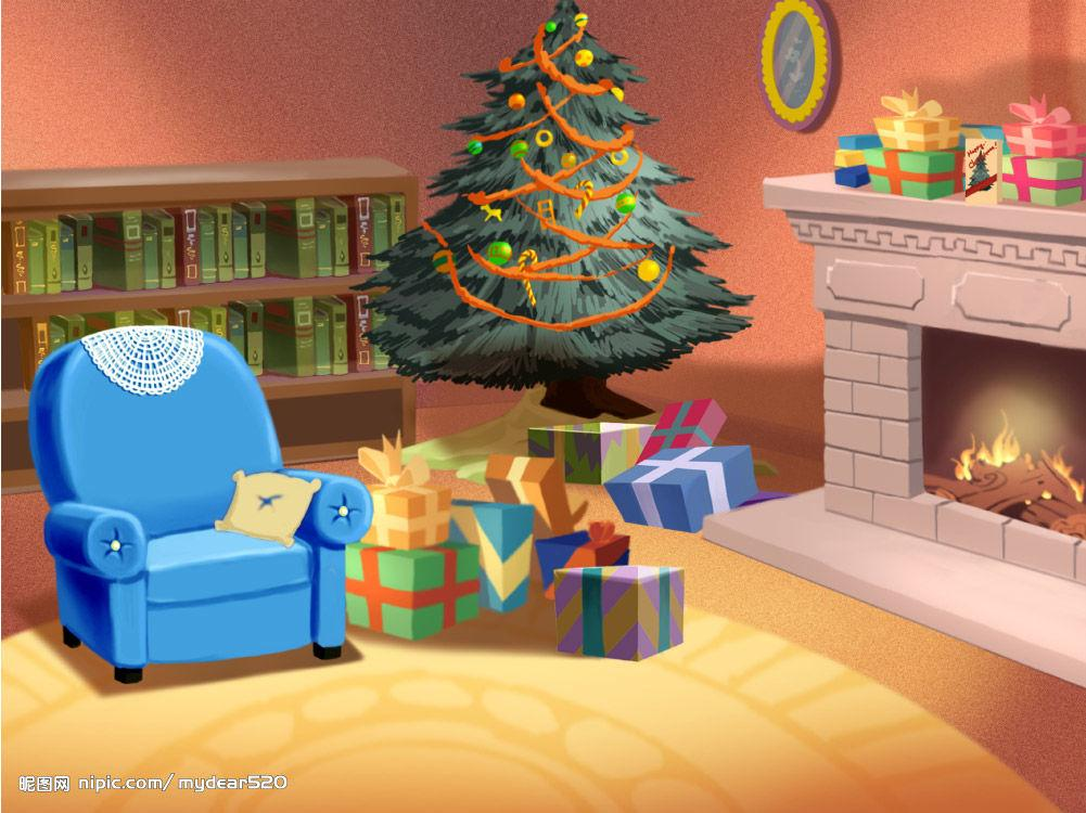 room clipart christmas