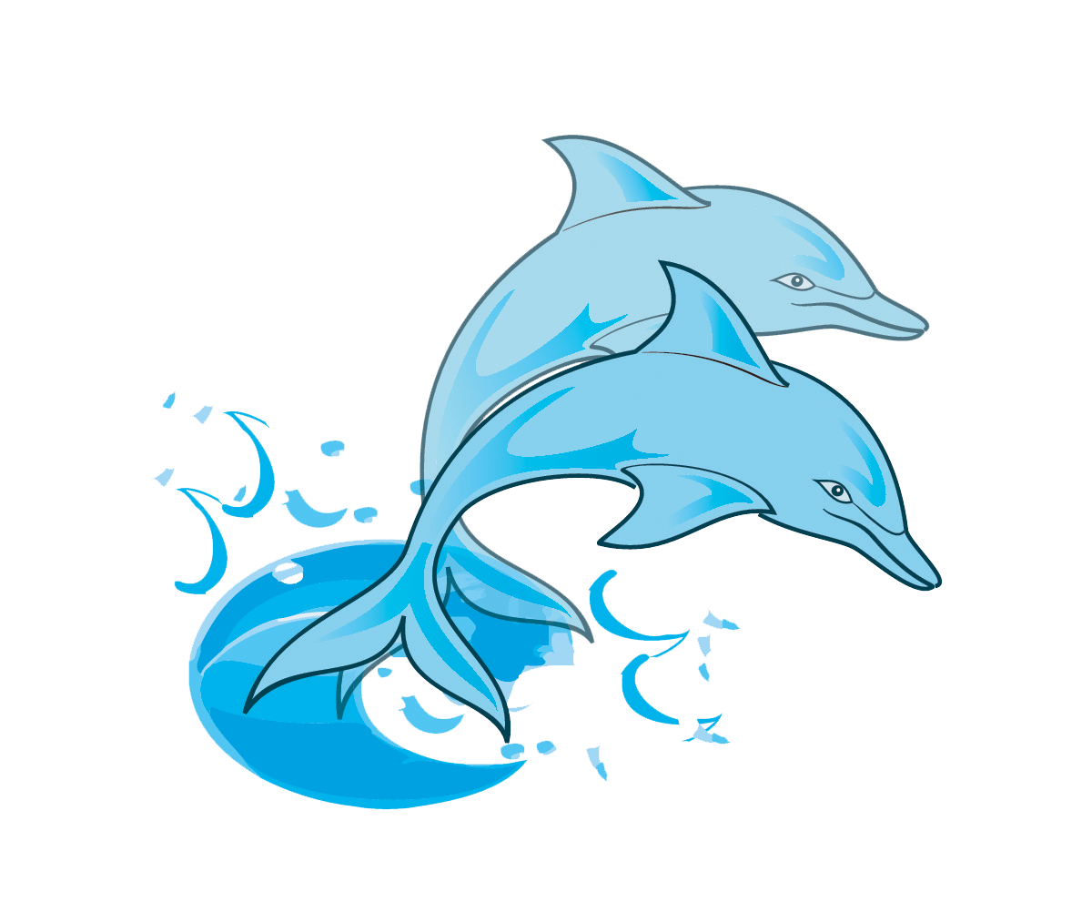 water clipart dolphin