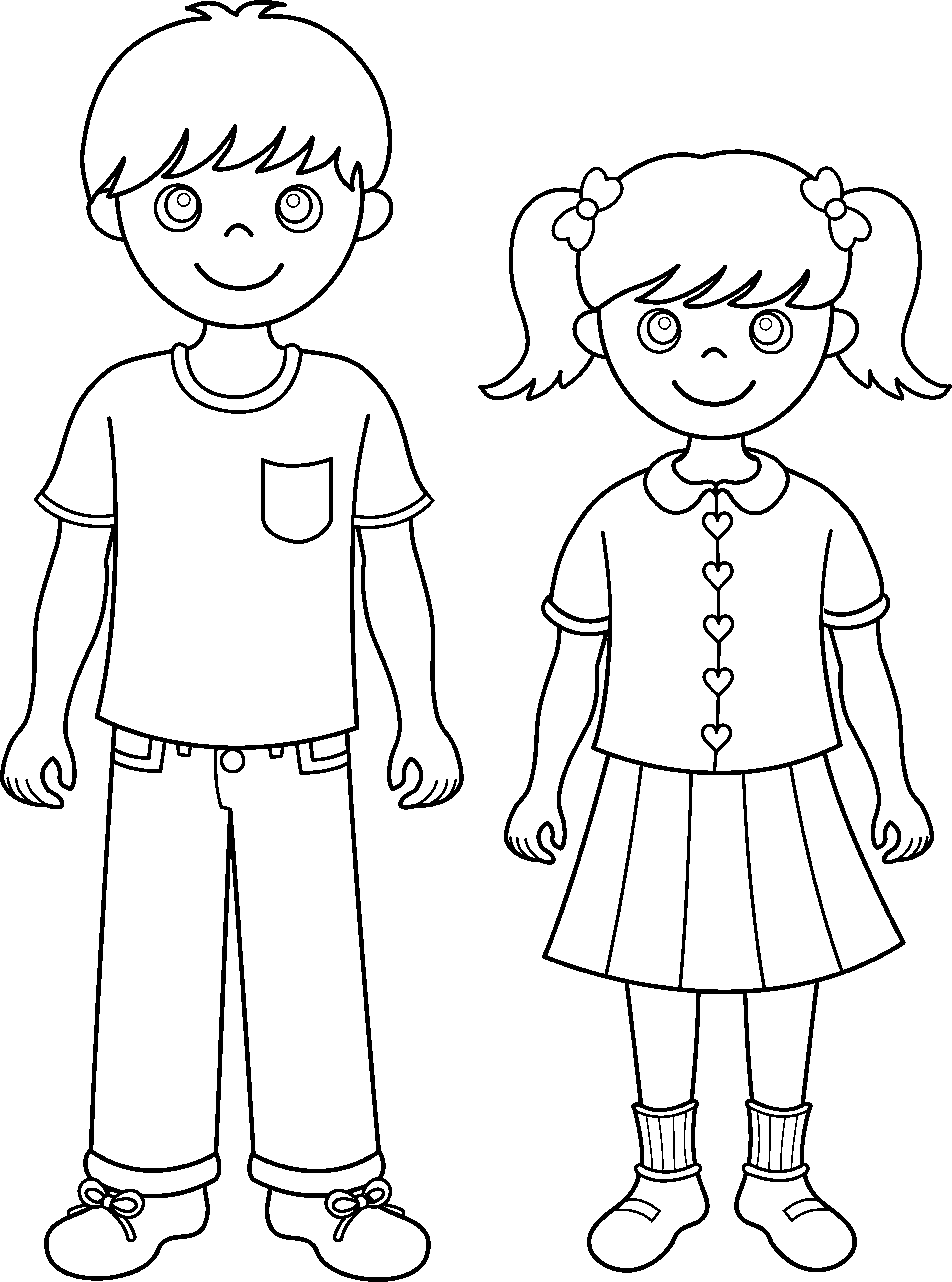 brother clipart coloring