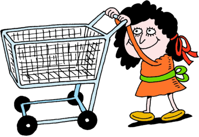 shopping carts clipart person