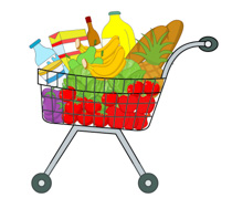 shopping clipart food