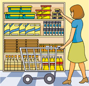 shopping clipart grocery