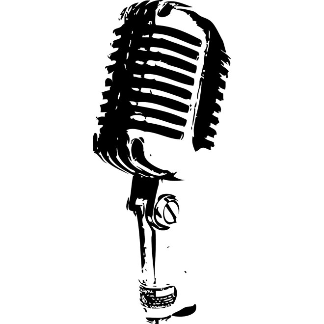 microphone clipart old fashioned