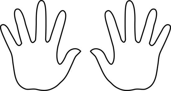 clipart hand outline