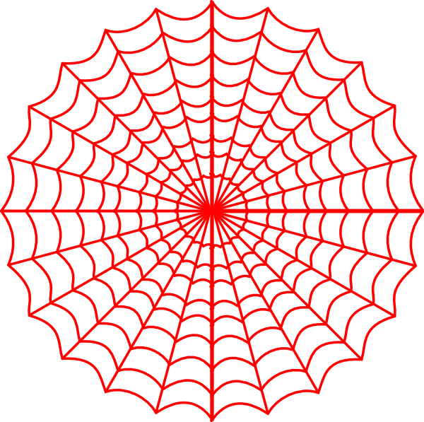 spider web clipart red