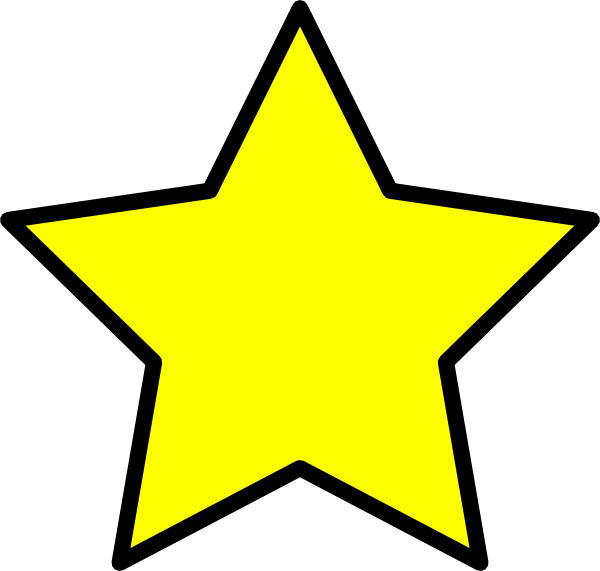 star icon clipart yellow