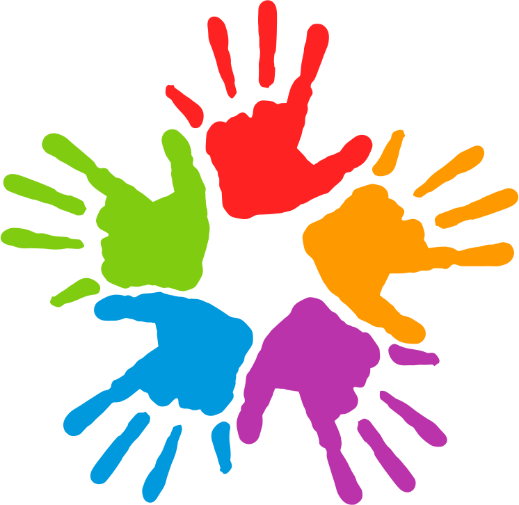 clipart hand colorful