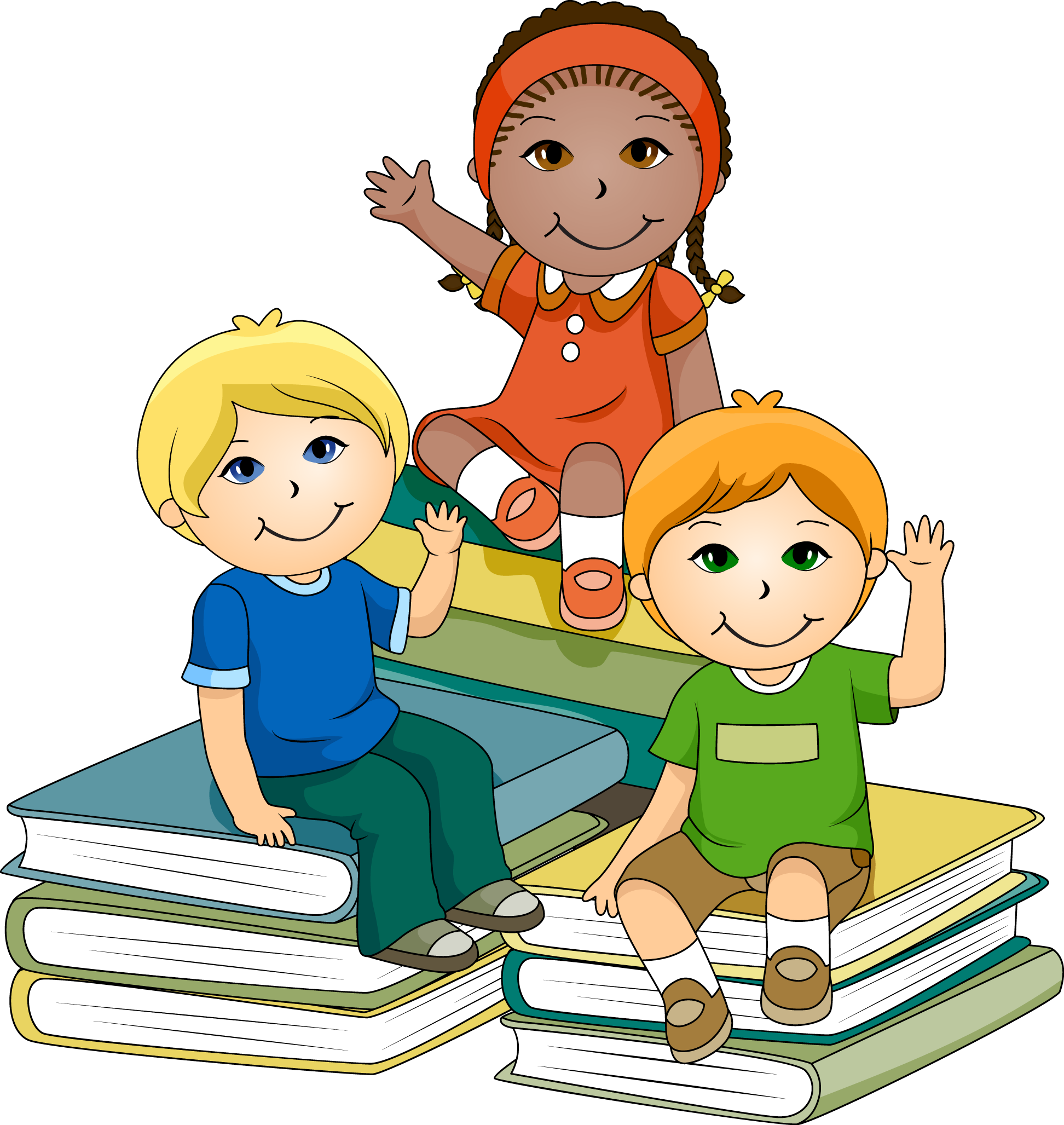studying clipart child