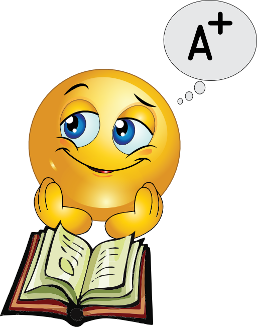 studying clipart cute