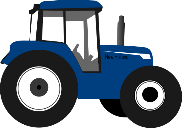 tractor clipart blue