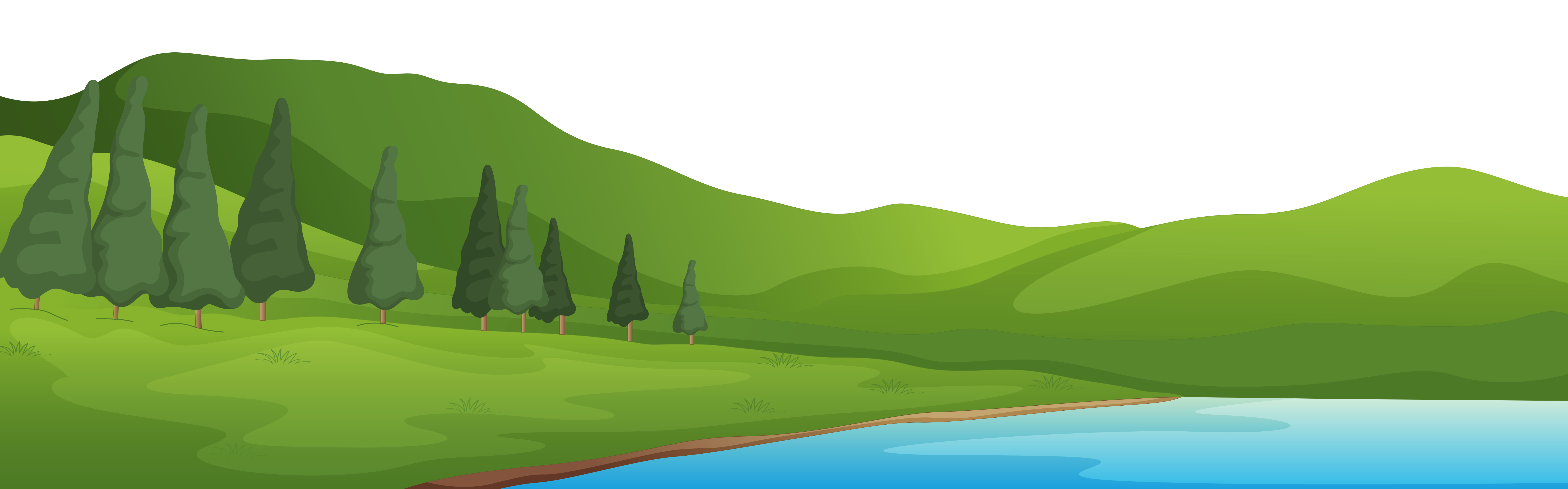 clipart road side view