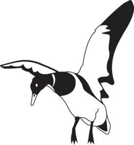 duck clipart black and white vector