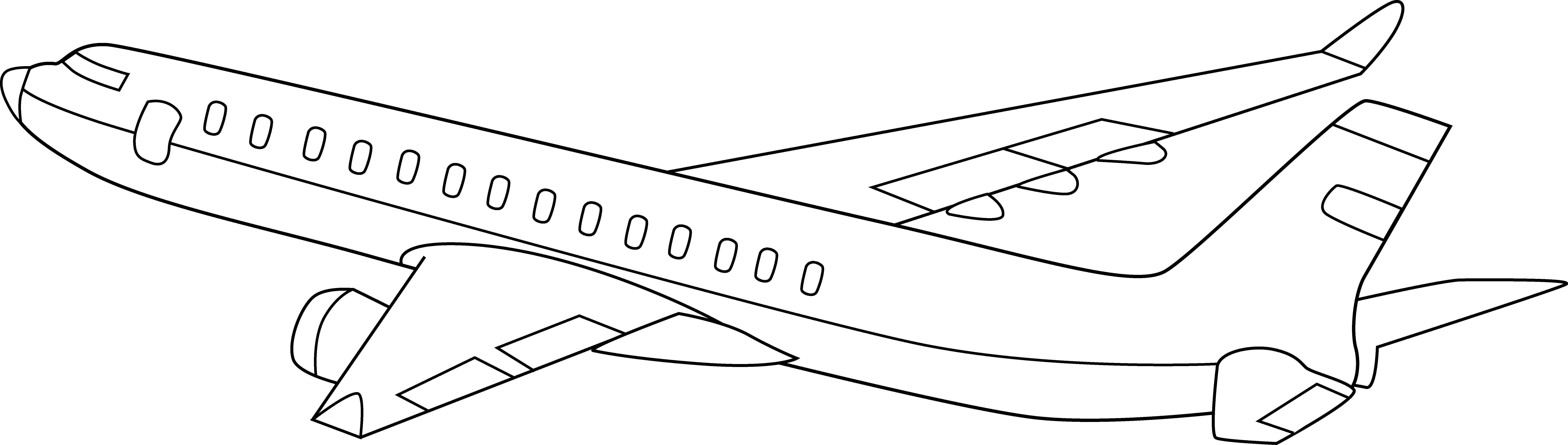 action lines clipart airplane