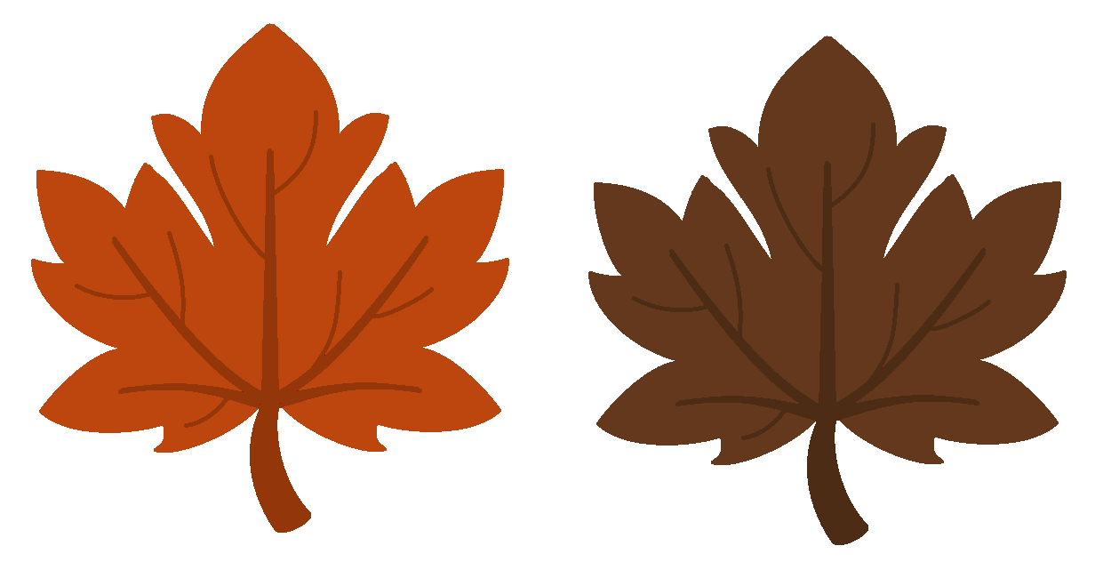 falling leaves clipart template