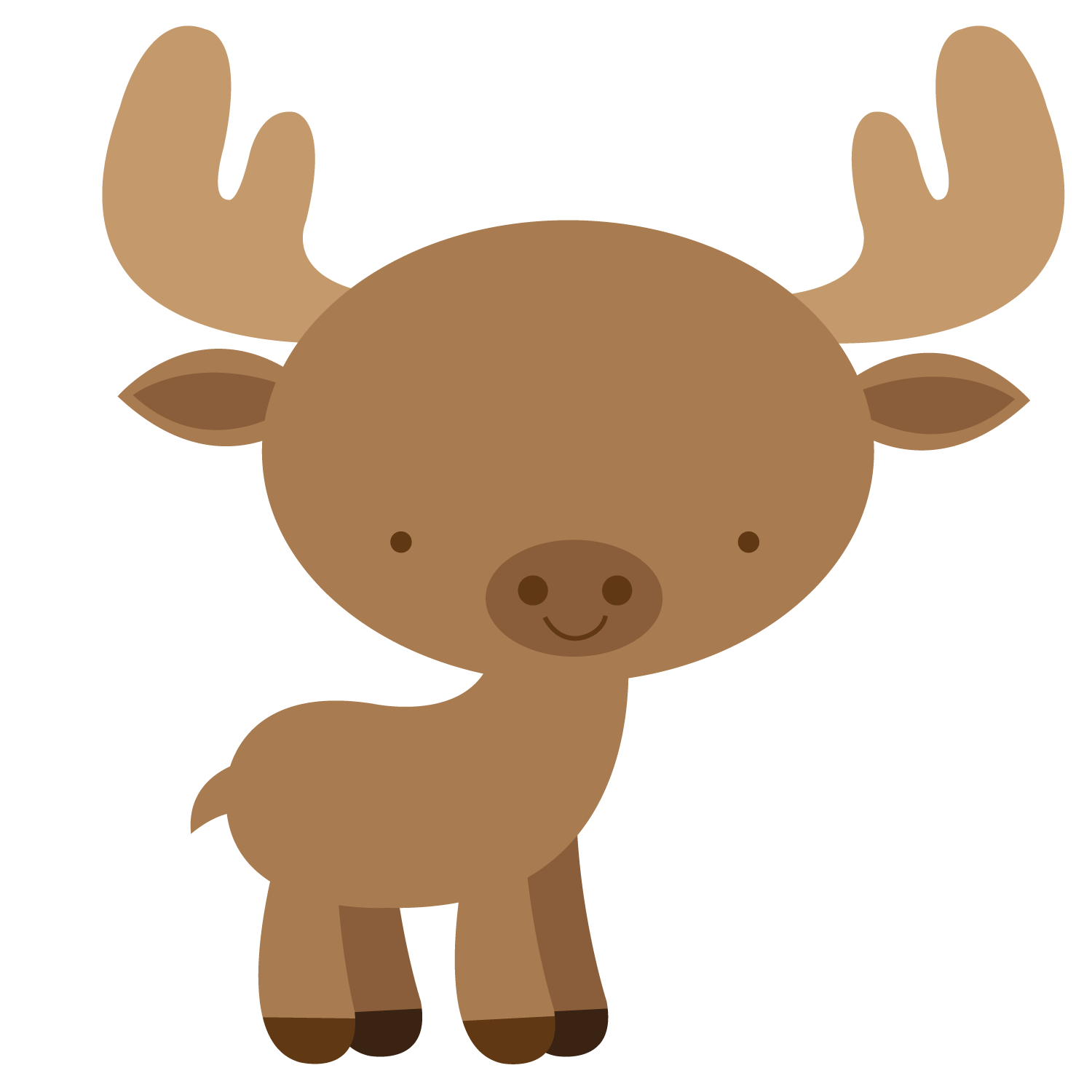 moose clipart woodland