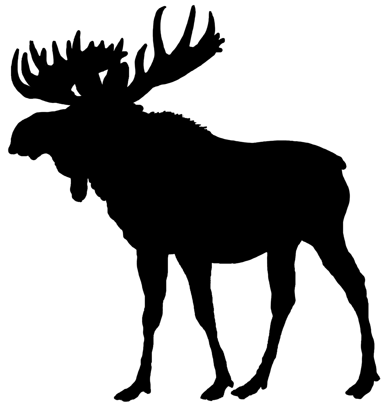 moose clipart silhouette