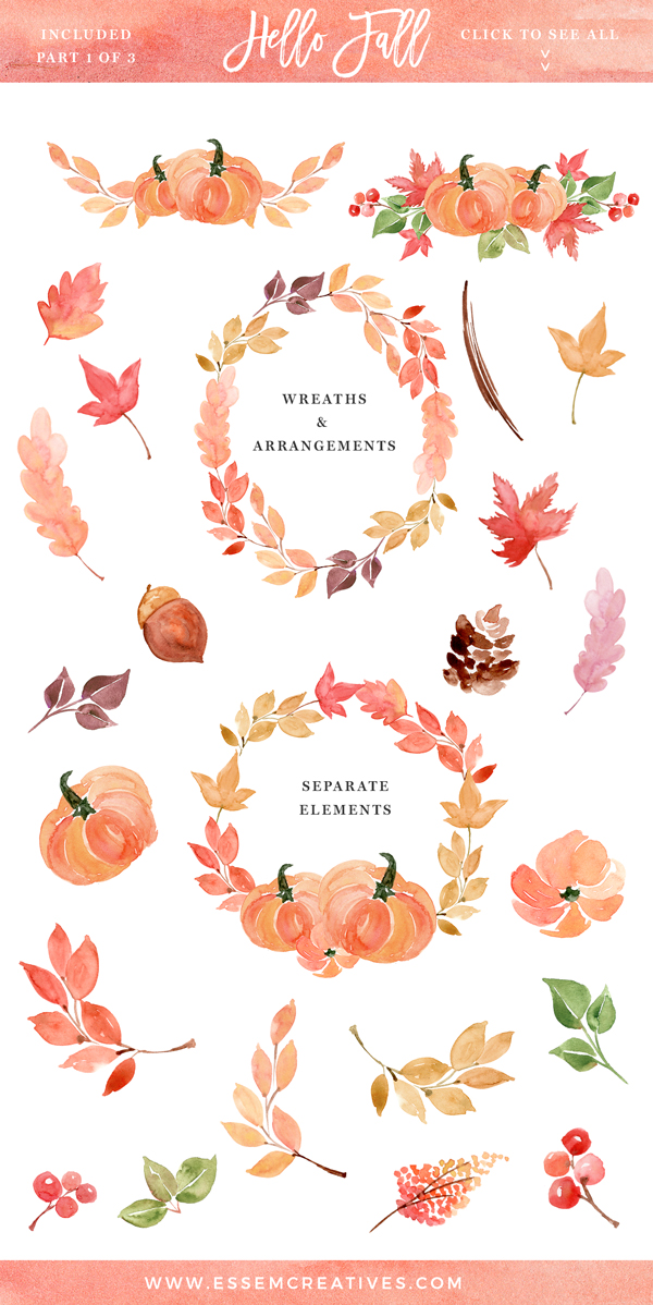 Autumn clipart hello.
