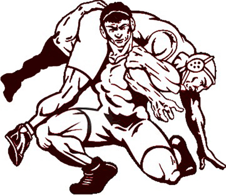 wrestling clipart drawing