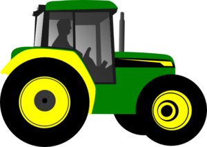 tractor clipart yellow