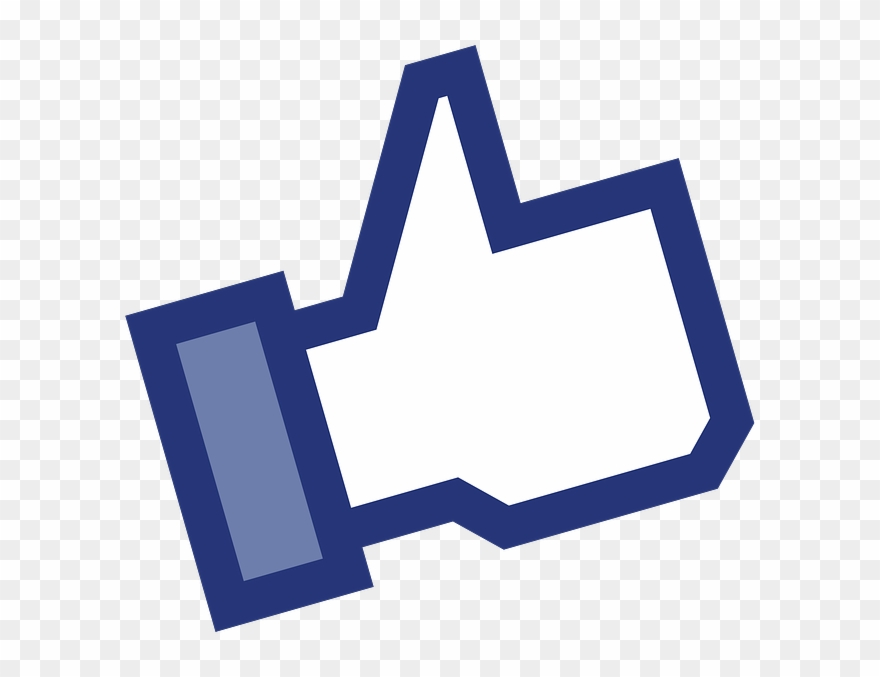youtube like button clipart middle